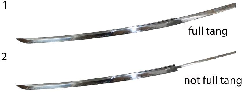 full tang samurai zwaard katana